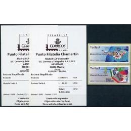 ESPAÑA (2017). 01. Filatelia y Turismo - B6ES17 ES01 - ' Madrid Chamartín ' (con tilde). ATMs nuevos + recibos
