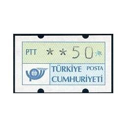 TURKEY (1987). Post logo....