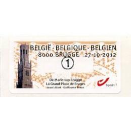 BÉLGICA (2012). De Markt van Brugge - La Grand-Place de Bruges. ATM nuevo (1)