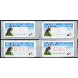 BÉLGICA (2011). Aguila pescadora - Angleur. Serie 4 valores