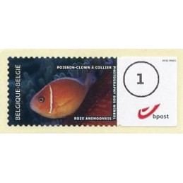 BÉLGICA (2011). 1. Peces (Poisson-clown à collier) - Tipo 1. ATM nuevo (1)