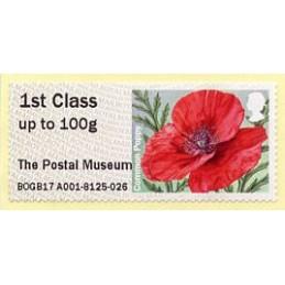 REINO UNIDO (2017). 10. Common Poppy (2015) - BOGB17 A001 - ' The Postal Museum '. ATM nuevo