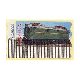 ESPAÑA (2005). 128. Locomotora Estado Serie 1000. Ferrocarril transpirenaico. Epelsa 6E. Etiqueta anulada