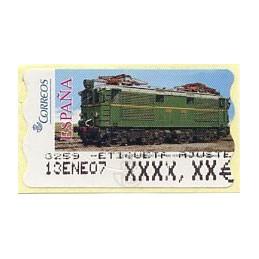 ESPAÑA (2005). 128. Locomotora Estado Serie 1000. Ferrocarril transpirenaico. Epelsa 5A. Etiqueta ajuste