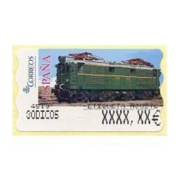 ESPAÑA (2005). 128. Locomotora Estado Serie 1000. Ferrocarril transpirenaico. Epelsa 5E. Etiqueta ajuste