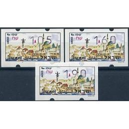 ISRAEL (1994). Turismo - Akko. Serie 3 valores (x1,05)