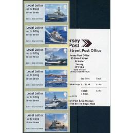 JERSEY (2018). Visiting Naval Vessels (Buques de guerra) - B2JE18 JE02 - ' Broad Street '. ATMs nuevos + recibo