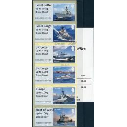 JERSEY (2018). Visiting Naval Vessels (Buques de guerra) - B2JE18 JE02 - ' Broad Street '. Serie  6 valores + recibo