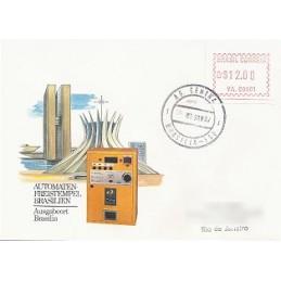 BRASIL (1981). Emisión básica (2) - VA.00001-10. Sobres (10)