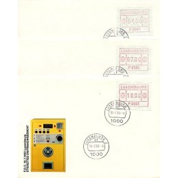 LUXEMBURGO (1983). Frama (1) - P 2501. Sobres primer día (serie)