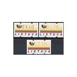 LITUANIA (1995). Emblema postal. Serie 3 val.