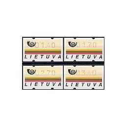 LITUANIA (1995). Emblema postal. Serie 4 val.