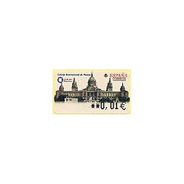 ESPAÑA. 53E. ICOM 2001. Barcelona. EUR-5A. ATM nuevo (0,01)