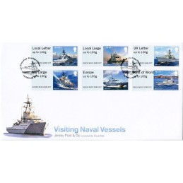 JERSEY (2018). Visiting Naval Vessels (Buques de guerra) - B2JE18 B002. Sobre primer día (serie)