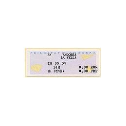 ANDORRA FR. MOG (2005) - III. G04. Aviones. Etiqueta de TEST