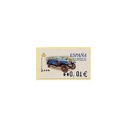 ESPAÑA. 61E. Rolls Royce S.G. 1919. EUR-5A. ATM nuevo (0,01)