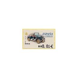 ESPAÑA. 63E. Humber T 1910. EUR-5A. ATM nuevo (0,01)