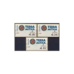 ESPAÑA. 49E. Terra Mitica. EUR-4E. Serie 3 val.
