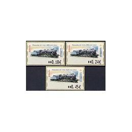 ESPAÑA. 52E. Locomotora 141, 2040-Norte. EUR-5E. Serie 3 val.