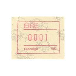 IRLANDA (1992). Emisión Frama (2) - Distr. 003. ATM nuevo