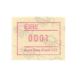 IRLANDA (1992). Emisión Frama (2) - Distr. 002. ATM nuevo