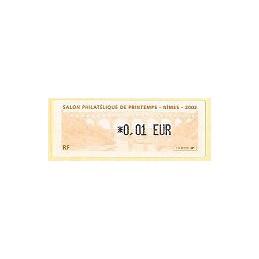 FRANCIA (2002). Salon Printemps Nimes. ATM nuevo