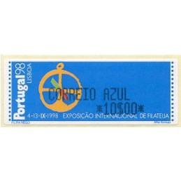 PORTUGAL (1997). PORTUGAL 98 - Monetel. ATM nuevo (CORREIO AZUL 10$00)