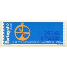 PORTUGAL (1997). PORTUGAL 98 - SMD. ATM nuevo (CORREIO AZUL 75$00)