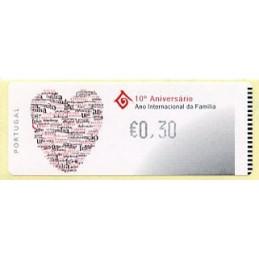 PORTUGAL (2004). 10º Aniversário Ano Internacional da Família - Crouzet NEGRO. ATM nuevo ( €0,30)