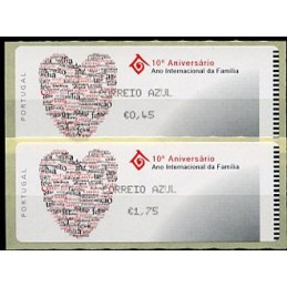 PORTUGAL (2004). 10º Aniversário Ano Internacional da Família - Crouzet NEGRO. Serie 2 valores (CORREIO AZUL)