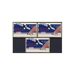 ESPAÑA. 47. Hispasat 1C. PTS-4 Mobba. Serie 3 val.
