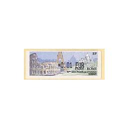 FRANCIA (2002). Paris - Rome. ATM nuevo