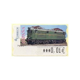 ESPAÑA (2005). 128. Locomotora Estado Serie 1000. Ferrocarril transpirenaico. Epelsa 6E. ATM nuevo (0,01)