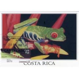 COSTA RICA (2003). Rana calzonuda (Agalychnis callidryas).. Tarjeta máxima
