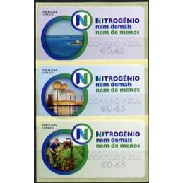 PORTUGAL (2018). Nitrogénio, nem demais nem de menos (Nitrógeno, ni de más ni de menos). ATMs nuevos (CORREIO AZUL)