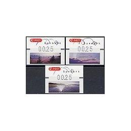 DINAMARCA (2006). Paisajes atardecer - Reimpr. ATMs nuevos