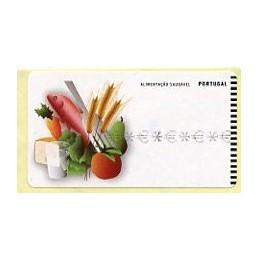 PORTUGAL (2009). Alimentação saudável (Alimentación saludable) - SMD negro.  Etiqueta TEST