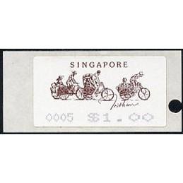 SINGAPUR (1992). Tricshaw....