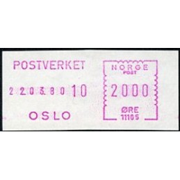 NORWAY (1980). Definitive...