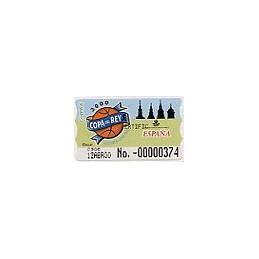 ESPAÑA. 39S. Copa del Rey ACB 2000. Etiqueta control E (No.-)