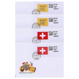 SUIZA (2006). WebStamp Private. Colección 4 sobres (1)