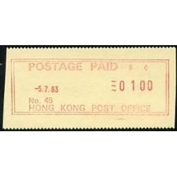 HONG KONG (1983). Pitney...