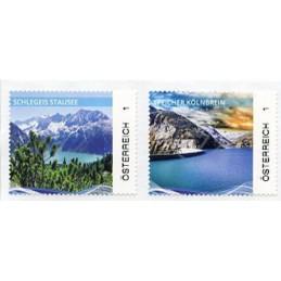 AUSTRIA (2020). Embalses de Austria - Speicher Kölnbrein y Schlegeis Stausee. ATMs nuevos (  1)