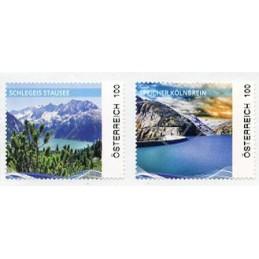 AUSTRIA (2020). Embalses de Austria - Speicher Kölnbrein y Schlegeis Stausee. ATMs nuevos (100)