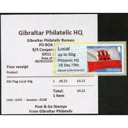 GIBRALTAR (2020). Flag of...