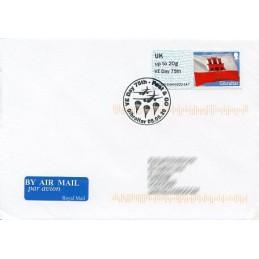 GIBRALTAR (2020). Bandera de Gibraltar - B5GI20 GI04 - ' VE Day 75th '. Sobre primer día (Reino Unido)