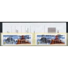 FRANCIA (2020). Salon Philatélique de Printemps - Dole 2020. IER LISA 2. ATM nuevo (ECOPLI) + sticker SUIVI