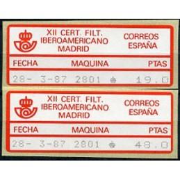 SPAIN (1987). 08. XII CERT....