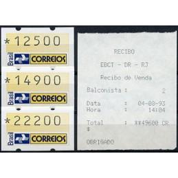 BRASIL (1993). Post emblem....
