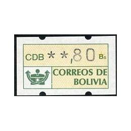 BOLIVIA (1989). Post logo....